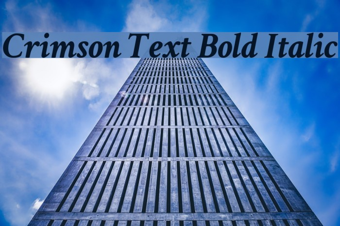 Crimson Text Bold Italic Font examples