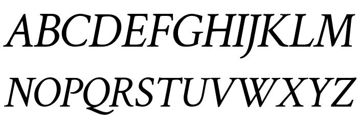 Crimson Text Italic फ़ॉन्ट अपरकेस