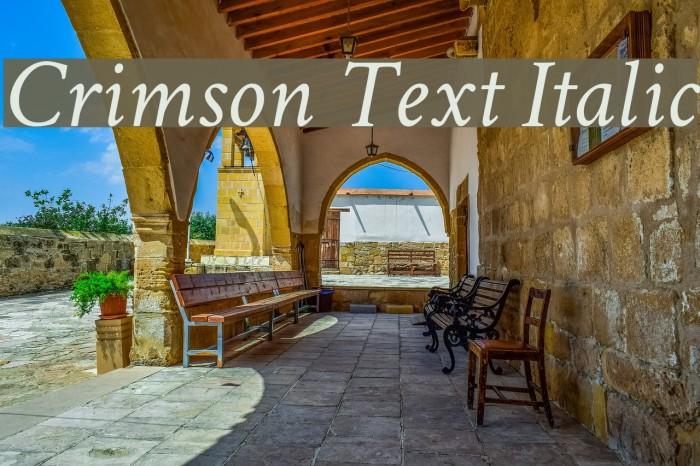 Crimson Text Italic Font examples