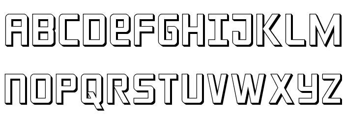 Crixus 3D फ़ॉन्ट अपरकेस
