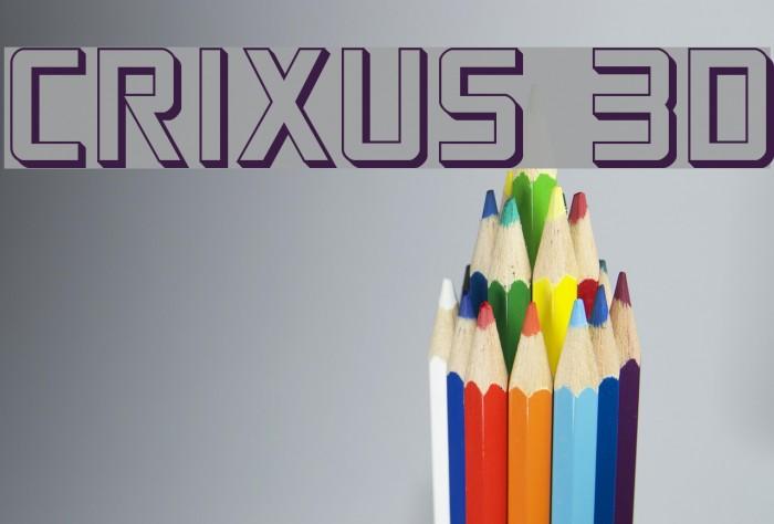 Crixus 3D फ़ॉन्ट examples