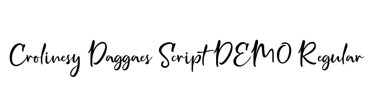 Crolinesy Daggaes Script DEMO Regular  Free Fonts Download