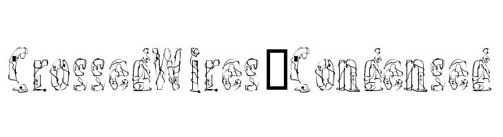 CrossedWires-Condensed  Frei Schriftart Herunterladen