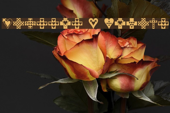 Crosses n Hearts Font examples