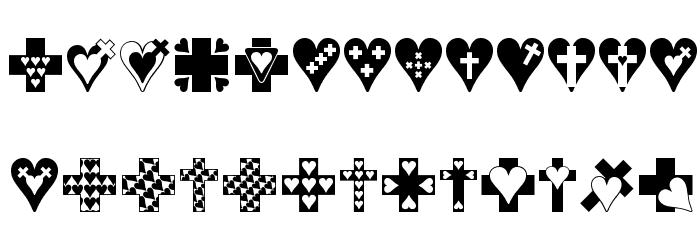 Crosses n Hearts Font LOWERCASE