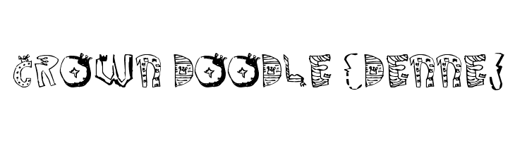 Crown Doodle {denne}  baixar fontes gratis