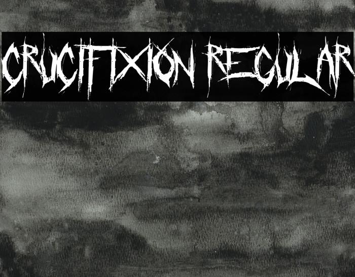 Crucifixion Regular Font examples