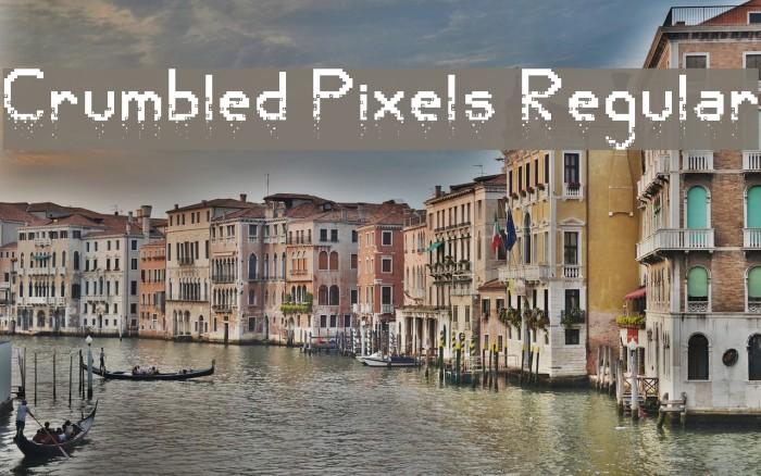 Crumbled Pixels Regular Polices examples