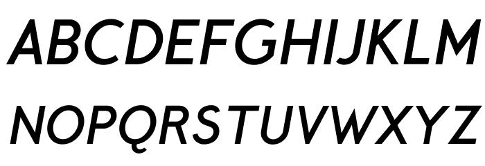 Crusoe Text Bold Italic Font UPPERCASE