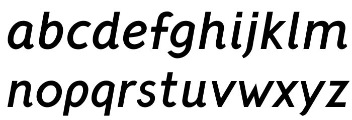 Crusoe Text Bold Italic Font LOWERCASE