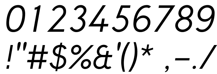 Crusoe Text Italic Font OTHER CHARS