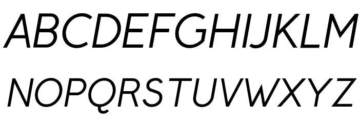 Crusoe Text Italic Fuentes MAYÚSCULAS