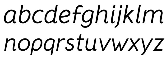 Crusoe Text Italic Fuentes MINÚSCULAS