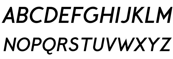 CrusoeText-BoldItalic Font Litere mari