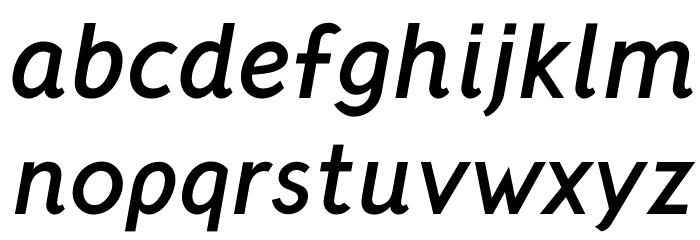 CrusoeText-BoldItalic Font Litere mici