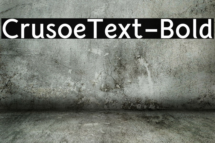 CrusoeText-Bold Fonte examples