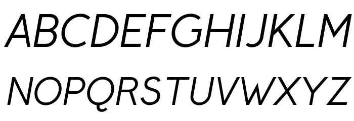 CrusoeText-Italic फ़ॉन्ट अपरकेस