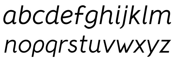 CrusoeText-Italic फ़ॉन्ट लोअरकेस
