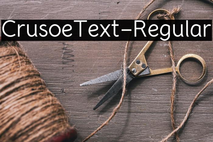 CrusoeText-Regular لخطوط تنزيل examples