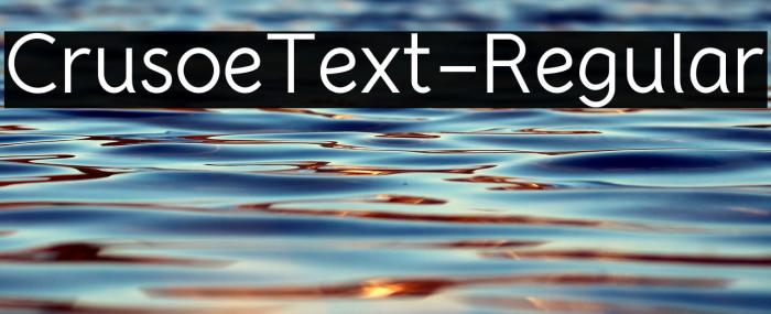 CrusoeText-Regular Шрифта examples