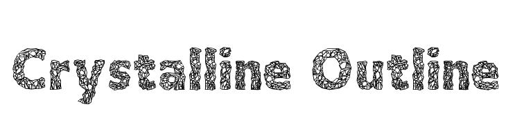 Crystalline Outline  Free Fonts Download