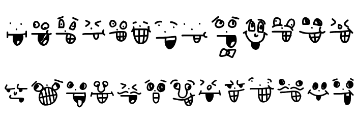 crazy smile Font LOWERCASE