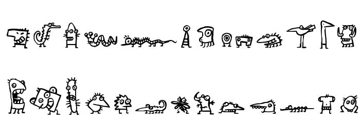 creatures फ़ॉन्ट अपरकेस