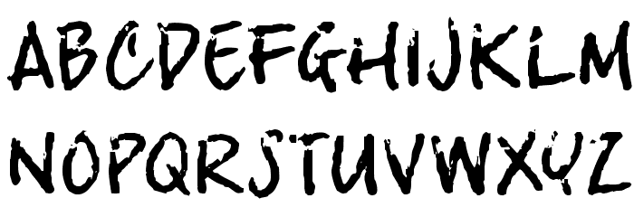 crosswordBill Font UPPERCASE