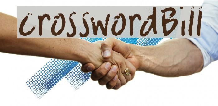crosswordBill Font examples