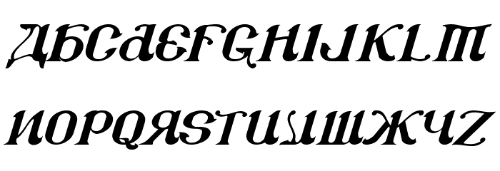CSAR  Italic Font UPPERCASE