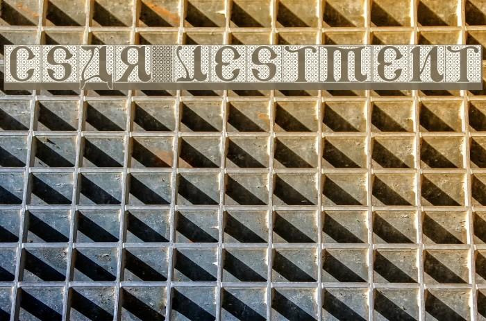 CSAR VESTMENT Font examples