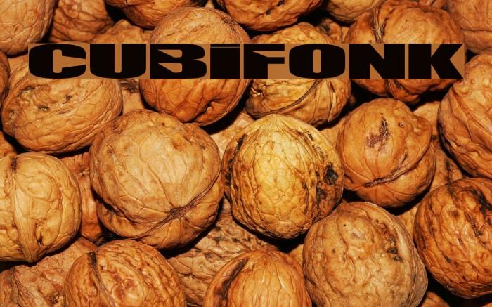 CUBIFONK Font examples