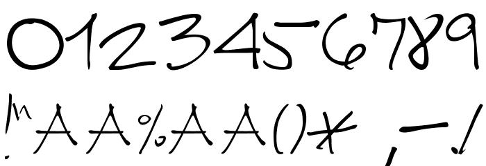 CUERNOMUERTO Шрифта ДРУГИЕ символов