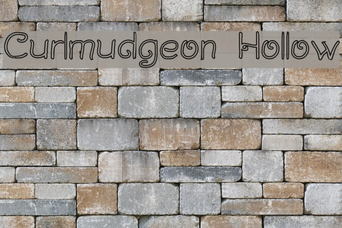 Curlmudgeon Hollow Fonte examples