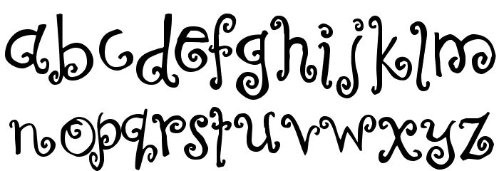Curly Coryphaeus Font LOWERCASE