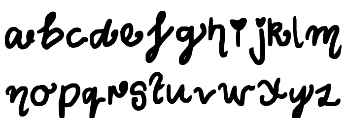 Curly Wurly Font LOWERCASE