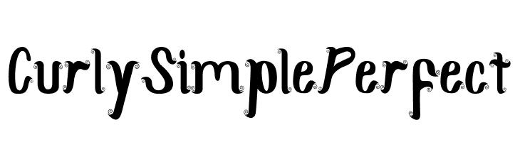 CurlySimplePerfect  Скачать бесплатные шрифты