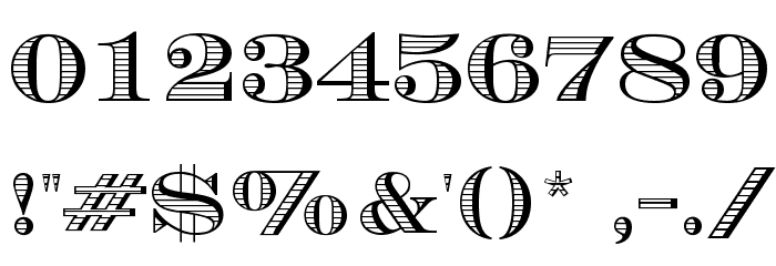 Currency Font OTHER CHARS