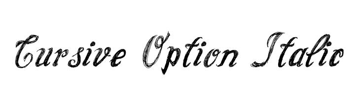 Cursive Option Italic  Fuentes Gratis Descargar