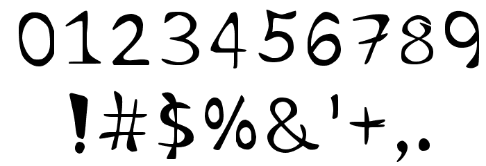Cursivehandwriting Regular Font OTHER CHARS