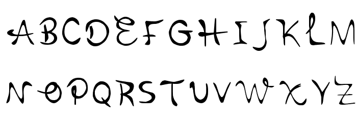 Cursivehandwriting Regular Font UPPERCASE