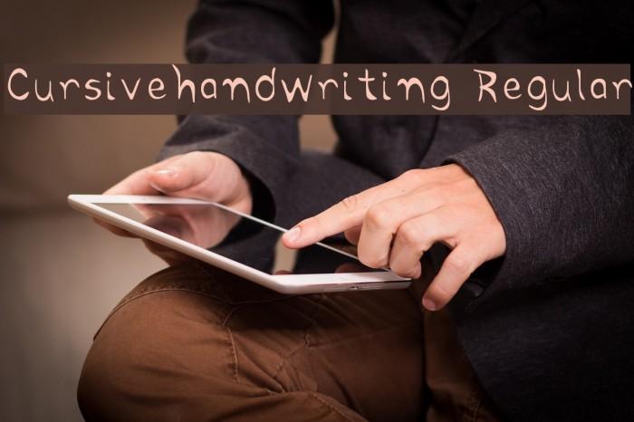 Cursivehandwriting Regular Font examples