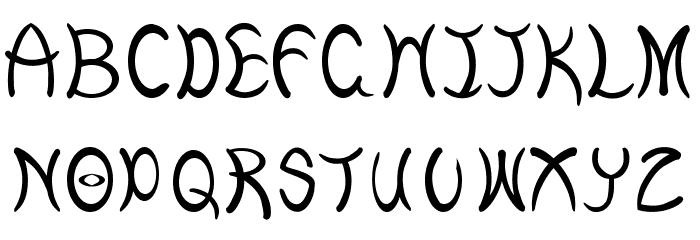 Curves Caratteri MAIUSCOLE