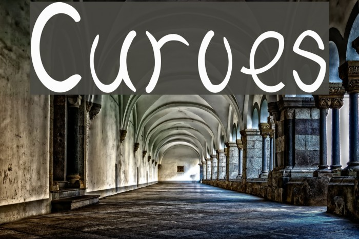 Curves फ़ॉन्ट examples