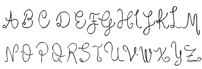 curvy font uppercase