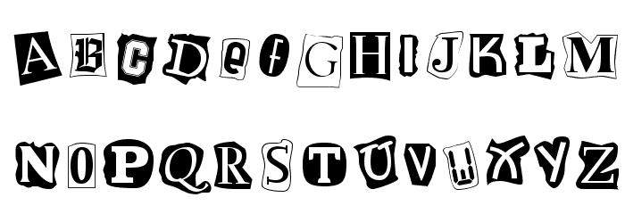 Cut and Paste Font UPPERCASE