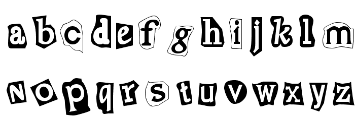 Cut and Paste Font LOWERCASE