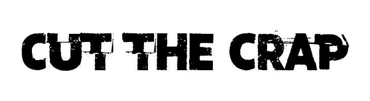 Cut the crap  font caratteri gratis