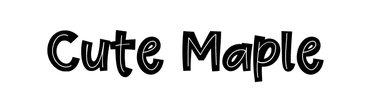Cute Maple Font - free fonts download