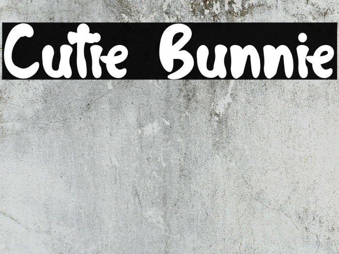 Cutie Bunnie Шрифта examples